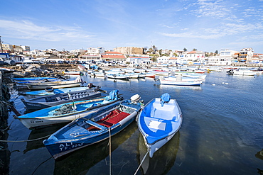 Small boat harbour of Tamentfoust, Algiers, Algeria, North Africa, Africa