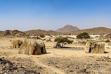 Traditional Tuareg housing near Tamanrasset, Algeria, North Africa, Africa