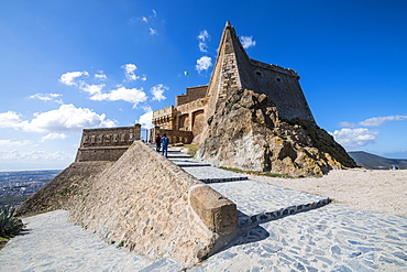 Santa Cruz castle high above Oran, Algeria, North Africa, Africa
