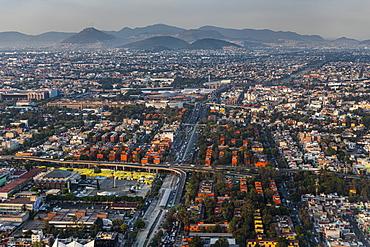 Aerial of Mexico City, Mexico, North America
