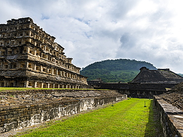 Pyramid of the Niches, Pre-Columbian archaeological site of El Tajin, UNESCO World Heritage Site, Veracruz, Mexico, North America