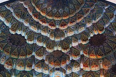 Beautiful artwork in the Ahmad Shah Durrani Mausoleum, Kandahar, Afghanistan, Asia