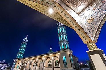 Grand Mosque Azno Mina at night, Kandahar, Afghanistan, Asia