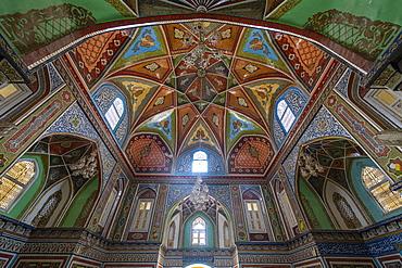 Beautiful interior of the Mausoleum of Mirwais Khan Hotaki, Kandahar, Afghanistan, Asia