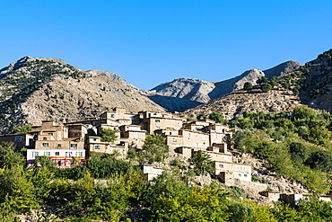 Mountain village in the Panjshir Valley, Afghanistan, Asia