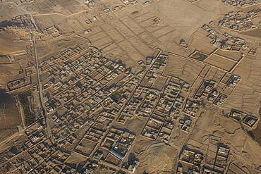 Aerial of Kabul, Afghanistan, Asia
