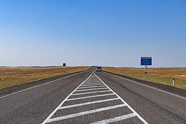 Road between Astrakhan and Elista, Astrakhan Oblast, Russia, Eurasia