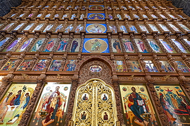 Interior of the Assumption Cathedral, Kremlin of Astrakhan, Astrakhan Oblast, Russia, Eurasia
