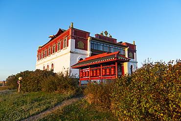 Geden Sheddup Choikorling Monastery, Elista, Republic of Kalmykia, Russia, Eurasia