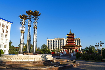 Pagoda of Seven Days, Elista, Republic of Kalmykia, Russia, Eurasia