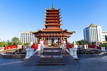 Pagoda of Seven Days, Elista, Republic of Kalmykia, Russia, Eurasia