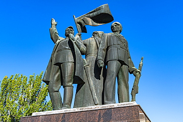 Revolution Monument in Rostov-on-Don, Rostov Oblast, Russia, Eurasia