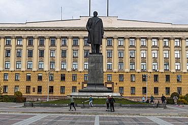 Long pedestrian zone in Penza, Penza Oblast, Russia, Eurasia