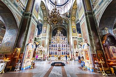 Interior of the Zadonskiy Monastery, Lipetsk Oblast, Russia, Eurasia
