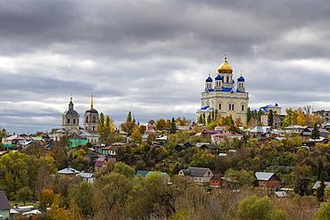 Yelets Cathedral overlooking the Bystraya Sosna River, Yelets, Lipetsk Oblast, Russia, Eurasia