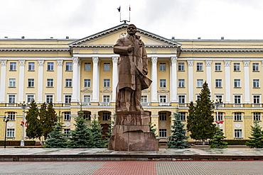 Lenin statue, Smolensk, Smolensk Oblast, Russia, Eurasia