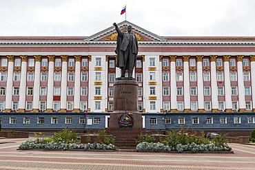 Lenin statue in Kursk, Kursk Oblast, Russia, Eurasia