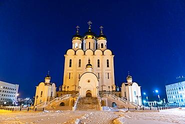 Orthodox church of the Trinity in Magadan, Magadan Oblast, Russia, Eurasia