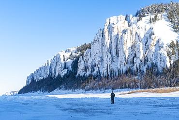 Lena Pillars at the Lena River, UNESCO World Heritage Site, Sakha Republic (Yakutia), Russia, Eurasia