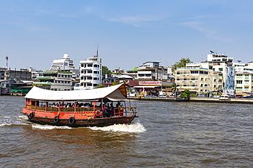 River ferry, Chao Phraya River, Bangkok, Thailand, Southeast Asia, Asia