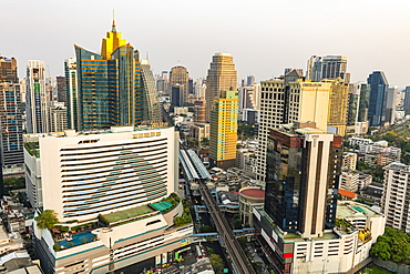 Skyline of Bangkok, Thailand, Southeast Asia, Asia