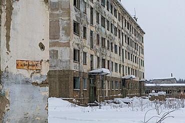 Abandoned mining city Kadykchan, Road of Bones, Magadan Oblast, Russia, Eurasia