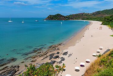 View over Bamboo Beach, Koh Lanta, Thailand, Southeast Asia, Asia