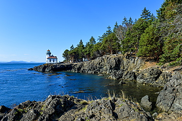 Lime Kiln Lighthouse, San Juan island, Washington State, United States of America, North America