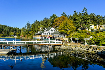 Old house, Roche harbor, San Juan islands, Washington State, United States of America, North America