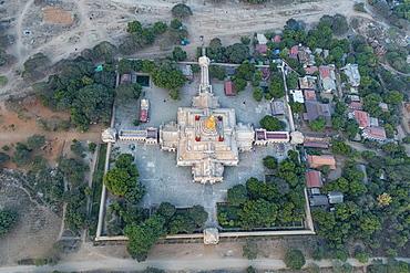 Aerial of the Ananda Temple, Bagan (Pagan), Myanmar (Burma), Asia