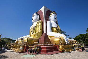 Four Seated Buddhas, Kyaikpun Buddha, Bago, Myanmar (Burma), Asia