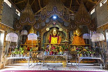 Shwe Inn Dein pagoda, Inn Thein, Inle Lake, Shan state, Myanmar (Burma), Asia