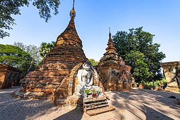 Yadana Hsemee Pagoda Complex, Inwa (Ava), Mandalay, Myanmar (Burma), Asia