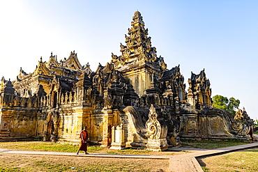 Maha Aungmye Bonzan Monastery, Inwa (Ava), Mandalay, Myanmar (Burma), Asia