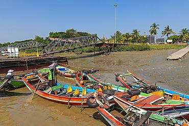 Harbor of Yangon (Rangoon), Myanmar (Burma), Asia