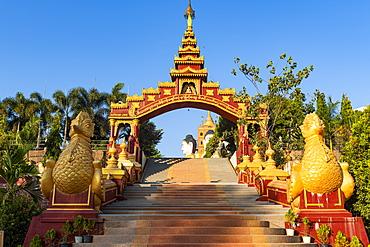 Entrance to the Ko Yin Lay Pagoda, Pupawadoy Monastery near Ye, Mon state, Myanmar (Burma), Asia