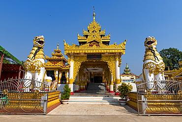 Shwesandaw Paya, principal shrine in Ye, Mon state, Myanmar (Burma), Asia