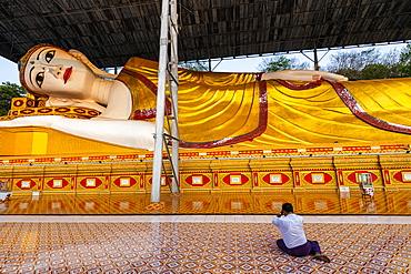 Reclining buddha Shwethalyaung Daw Mu, Dawei, Mon state, Myanmar
