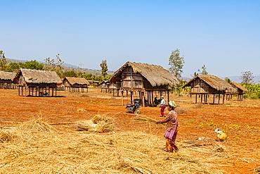 Kayah village, Loikaw area, Kayah state, Myanmar (Burma), Asia
