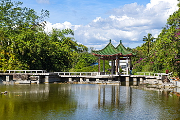Pool in the Nanshan Temple, Sanya, Hainan, China, Asia