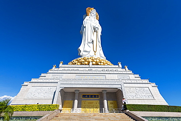 Giant Buddhist statue in the South Chinese Ocean, Nanshan Temple, Sanya, Hainan, China, Asia