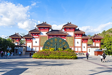 Entrance gate to the Nanshan Temple, Sanya, Hainan, China, Asia