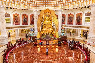 Buddha statue in the giant buddha of the Nanshan Temple, Sanya, Hainan, China