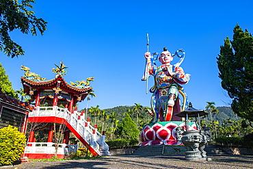 Huge statue at a Buddhist temple, Sun Moon Lake, National Scenic Area, Nantou county, Taiwan, Asia