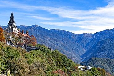 Old England traditional hotel, in the mountains of Nantou County, Renai township, Taiwan, Asia