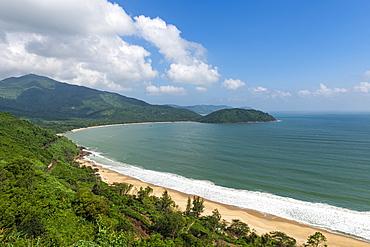 Long sandy beach, Hai Van Quan pass, Danang, Vietnam, Indochina, Southeast Asia, Asia