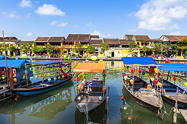 River front in the old town of Hoi An, UNESCO World Heritage Site, Vietnam, Indochina, Southeast Asia, Asia