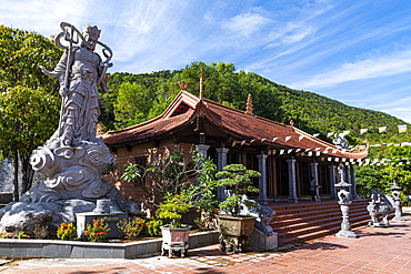 Buddha statue in the Ho Quoc Pagoda Buddhist temple, island of Phu Quoc, Vietnam, Indochina, Southeast Asia, Asia