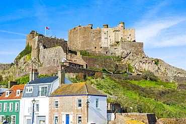 Castle of Mont Orgueil, Jersey, Channel Islands, United Kingdom, Europe