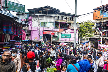 Market in Aizawl, Mizoram, India, Asia